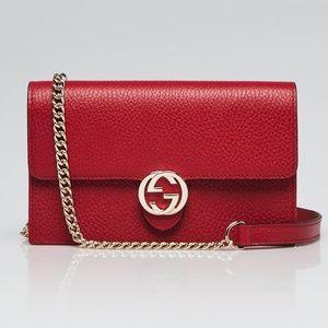 Gucci Wallet on Chain WOC Interlocking Bag 99% New